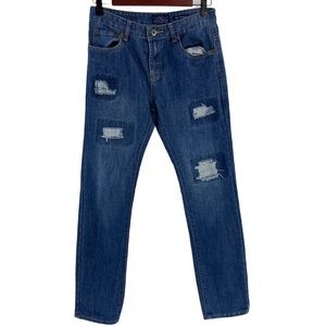 Lucky Brand Billy Straight Jeans Patched Boys 16